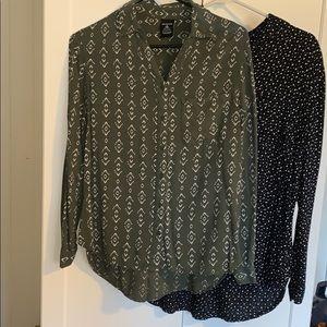 2 Button up collar shirts